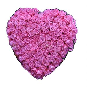 Pink Funeral Heart