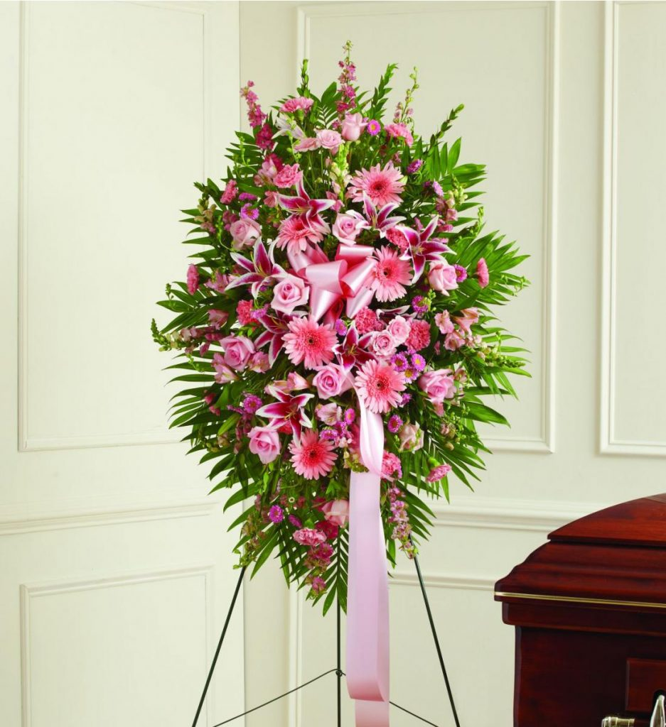 Pink Funeral Spray